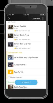 Metric Fitness app